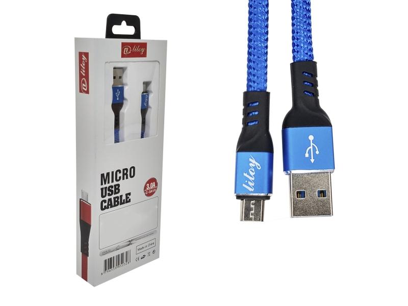 Cable USB V8 Carga Rápida Y Datos 96.5cm Reforzado Tela