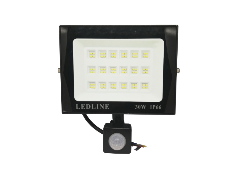 Reflector Led 30w Con Sensor De Movimiento Contra Agua IP66