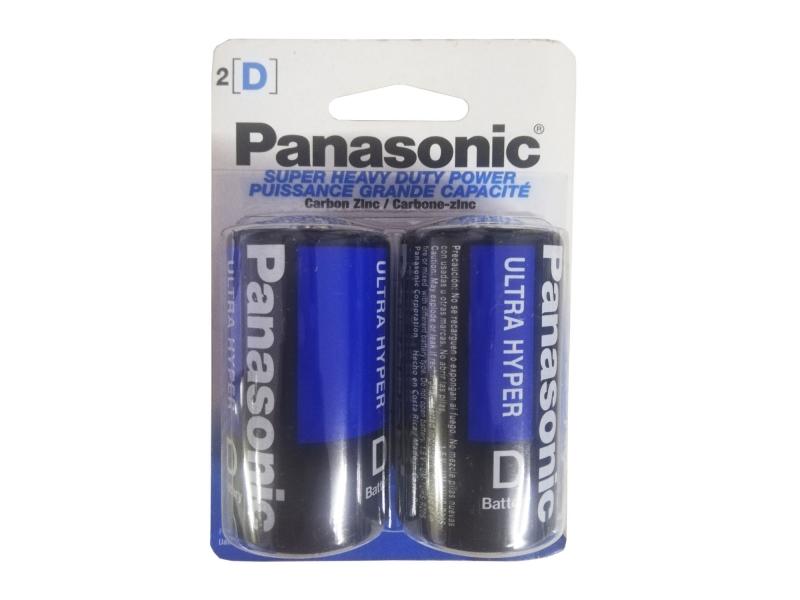 Paquete 2 Pilas Panasonic D Zinc Carbón 1.5V