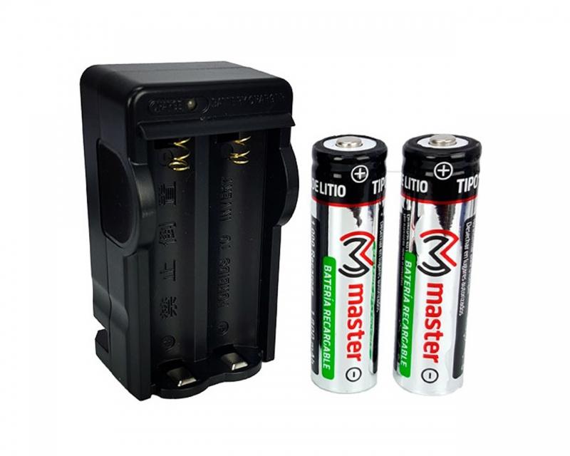 Cargador Para Baterias Tipo 18650 Con Dos Baterias Incluidas