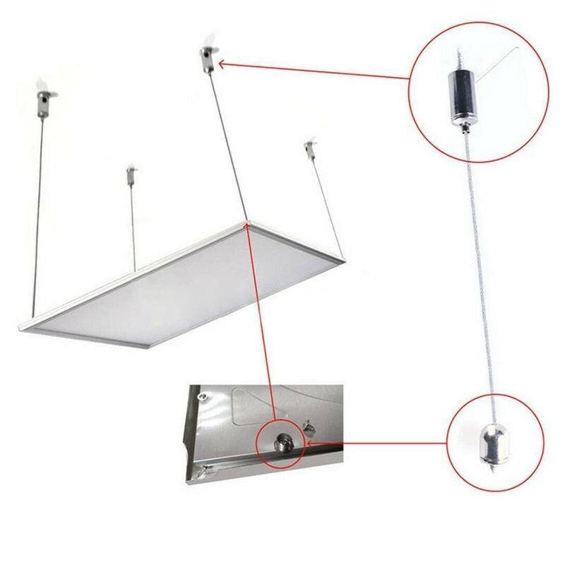Cable Soporte 1m De Acero Para Montaje De Lámpara En Techo