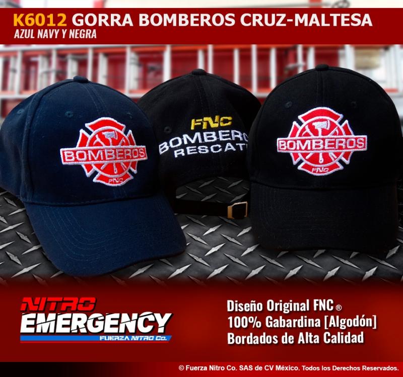 K6012 Gorra Bomberos Cruz Maltesa
