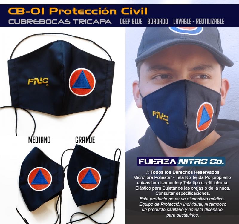 Cubrebocas de Protección Civil