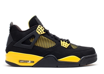 Traphouse Sneakers | Air jordan 4 retro thunder 2012 release black white tour yellow