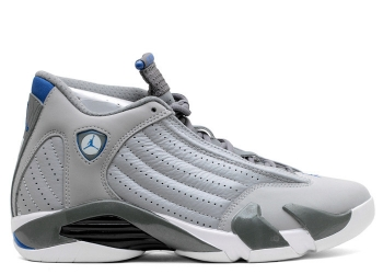 Traphouse Sneakers | Air jordan 14 retro wolf grey sprt blue cl gry wht