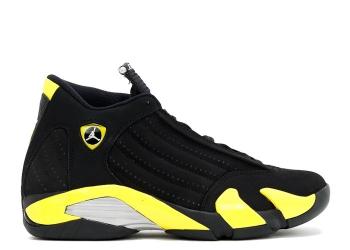 Traphouse Sneakers | Air jordan 14 retro thunder black vibrant yellow white