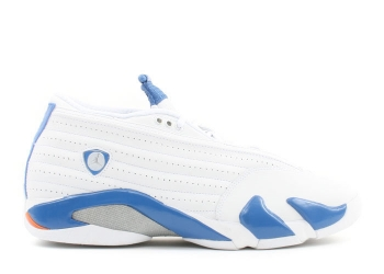 Traphouse Sneakers | Air jordan 14 retro low white pacific blue mts brt cer