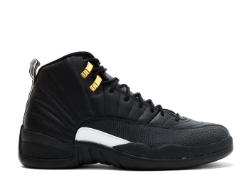 Traphouse Sneakers | Air jordan 12 retro the master black white black mtllc gold