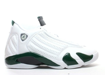 Traphouse Sneakers | Air jordan 14 retro white black forest light graphite
