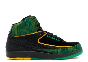 Traphouse Sneakers | Air jordan 2 high db doernbecher black pro gold lucky greeN