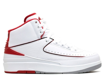 Traphouse Sneakers | Air jordan 2 retro white black vrsty red cmnt gry