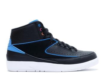 Traphouse Sneakers | Air jordan 2 retro black photo blue white fr pink