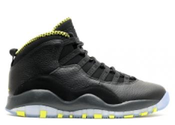 Traphouse Sneakers | Air jordan retro 10 venom black vnm green cl gry anthrct