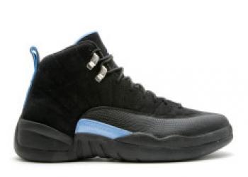 Traphouse Sneakers | Air jordan 12 retro nubuck black white university blue