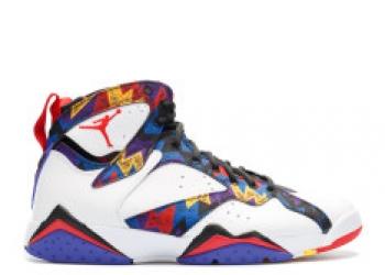 Traphouse Sneakers | Air jordan 7 retro nothin but net whitw unvrsty rd blk brght cnc