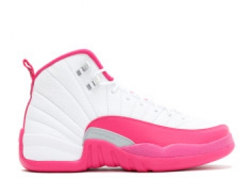Traphouse Sneakers | Air jordan 12 retro gg white vivid pink mtllc silver