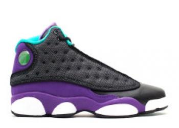 Traphouse Sneakers | Girls air jordan 13 gs black atmc teal ultrvlt white