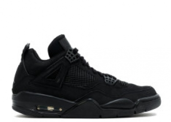 Traphouse Sneakers   Air jordan 4 retro black cat black black light graphite