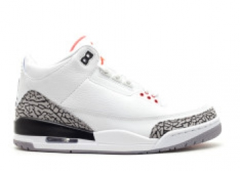 Traphouse Sneakers   Air jordan 3 retro 2011 release white fire red cement grey blk