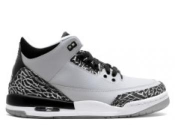 Traphouse Sneakers   Air jordan 3 retro bg gs wolf grey wolf grey metallic silver blk