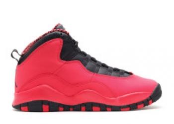 Traphouse Sneakers | Girls air jordan 10 retro gs fusion red black laser orange