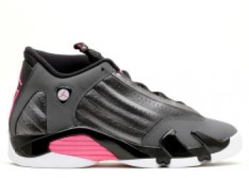 Traphouse Sneakers | Jordan 14 retro gg mtlc drk gry hypr pnk blck wht