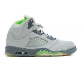 Traphouse Sneakers | Air jordan 5 retro green bean silver green bean flint grey