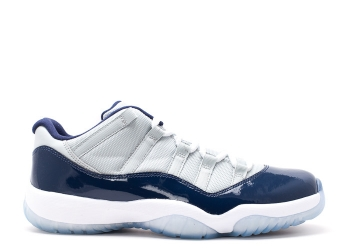 Traphouse Sneakers | Air jordan 11 retro low georgetown grey mist wht md nvy