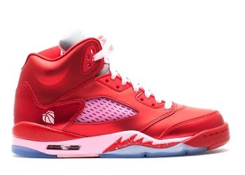 Traphouse Sneakers | girls-air-jordan-5-retro-gs-valentines-day-gym-red