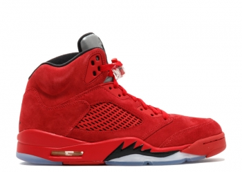 Traphouse Sneakers | Air Jordan 5 Red Suede
