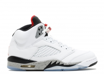 Traphouse Sneakers | Air Jordan 5 White Cement