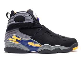 Traphouse Sneakers | Air jordan 8 retro phoenix suns blk brght ctrs cl gry dp ryl b