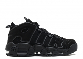 Traphouse Sneakers | Air More Uptempo Black Reflective