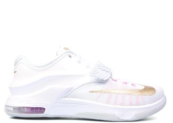 Traphouse Sneakers   nike kd 7 prm aunt pearl white mtllc gld pnk pw pr pltn