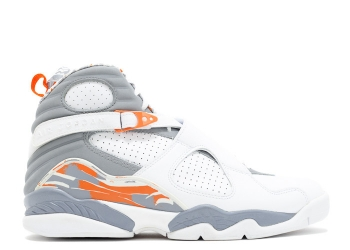 Traphouse Sneakers | Air jordan 8retro white stealth orange blaze silver