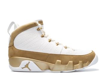 Traphouse Sneakers | Air jordan 9 retro premio bin23 white metallic gold