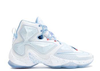 Traphouse Sneakers | nike lebron xiii xmas fire ice summit white blue tint lght bl