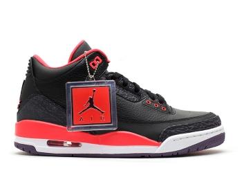 Traphouse Sneakers | Air jordan 3 retro crimson black brght crmsn cnyn prpl pr