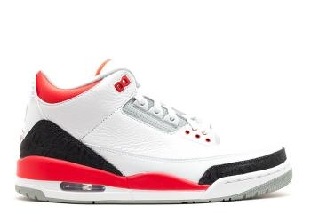 Traphouse Sneakers | Air jordan 3 retro 2013 release white fire red silver black