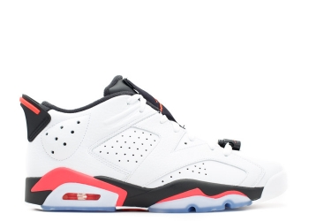 Traphouse Sneakers | Air jordan 6 retro low bg infrared white infrared 23 black