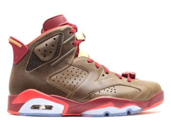 Traphouse Sneakers | Air jordan 6 retro cigar raw umber team red metallic gold challenge red