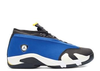 Traphouse Sneakers | Air jordan 14 retro low laney varsity royal varsity maize black white