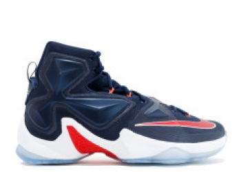 Traphouse Sneakers | Nike lebron 13 usa mid nvy unvrsty rd white bright
