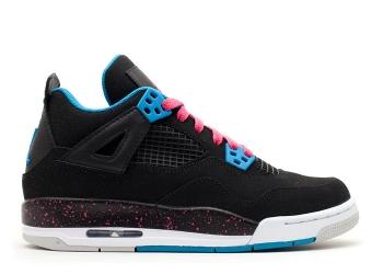 Traphouse Sneakers | Girls Air jordan 4 retro gs black vivid pink dynmc bl wht