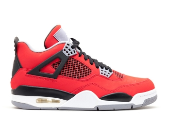 Traphouse Sneakers | Air jordan 4 retro toro bravo fire red white back cmnt grey