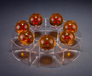 Base De Acrílico De Exhibición Para Esferas Del Dragon De 4.4cm