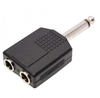 Adaptador Plug 6.3mm Macho Salida De 2 Jacks 6.3mm Monoaural