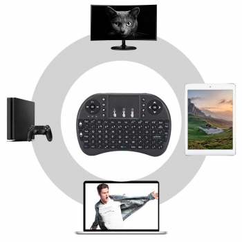 Mini Teclado Portátil Inalámbrico Recargable PC TV Box Smart TV