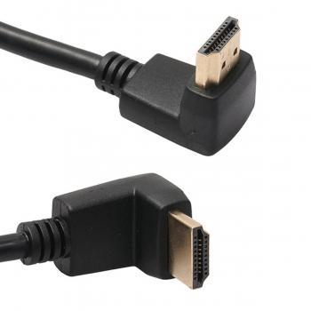 Cable HDMI 3m Macho Macho Conectores L 270° Negro