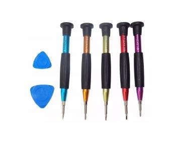 Kit Desarmador De Colores 7 En 1